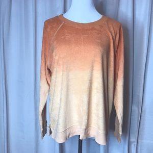 Terry Sweatshirt Orange ombré From American Eagle